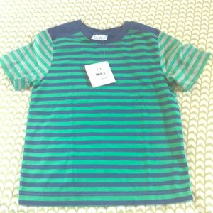 Hanna Andersson boys blue, green and gray T-shirt